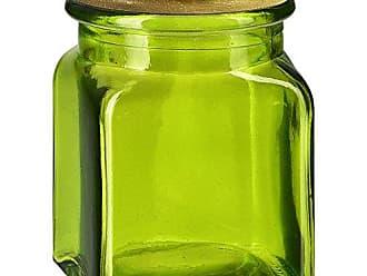 Couronne Company 6182G95-C Calypso Glass Jar with Cork 16 oz