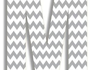 The Stupell Home Décor Collection The Stupell Home Decor Collection Gray Chevron Hanging Wall Initial, 18-Inch, M