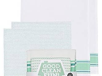 Now Designs Towel and Dishcloth Kitchen Set, Spearmint Green