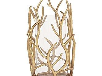 Howard Elliott 11245 Gold Branches Hurricane Candle Holder, Small