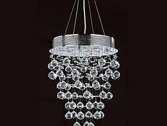 Worldwide Lighting W83211C16 Icicle 7 Light 1 Tier 16 Chrome