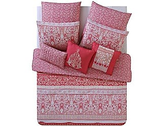 VCNY Home VCNY Home Royalty Paisley Damask Reversible 8 Piece Bedding Comforter Set, Full/Queen, Coral