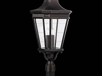 Feiss OL5408GBZ Cotswold Lane Outdoor Lantern in Grecian Bronze finish with Clear beveled glass shade