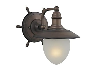 Vaxcel Lighting WL25501 Orleans 1 Light Wall Sconce Antique Red Copper