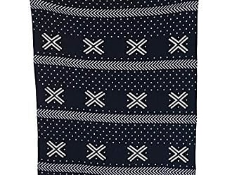Creative Co-op Cotton Knit Baby Blanket with Dots and Cross Pattern, 40 L x 32 W, Black and White