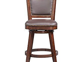 Boraam 51824 Broadmoor Swivel Counter Stool, 40-Inch, Cappuccino