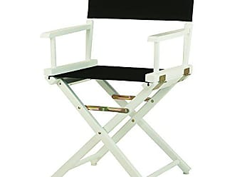 Yu Shan Casual Home 18 Directors Chair White Frame with Black Canvas