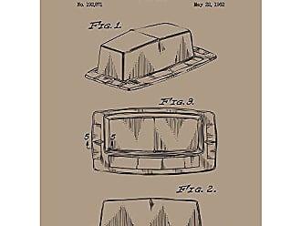 Inked and Screened SP_KITC_192,871_KR_24_K Butterdish Print, 18 x 24, Kraft-Black Ink