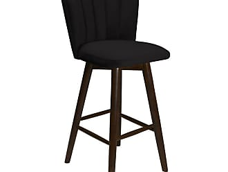 SOUTH CONE Francesca 26 in. Upholstered Counter Stool with Swivel Espresso - FRANCS26/WAL/ESPRESSO