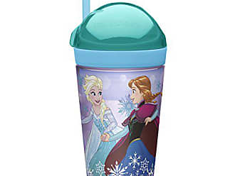 Zak designs Frozen Girl ZakSnak All-In-One Drink Tumbler + Snack Container For Toddlers - Spill-proof 4oz Snack Container Screws Securely Onto 10oz Tumbler With Accessible Straw, Frozen Girl