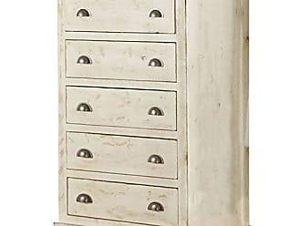 Progressive Furniture P610-14 Wilow Chest, 38 x 18 x 52, Distressed White