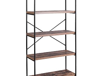 Costway Multipurpose Open Bookcase Industrial Rack Storage Shelf