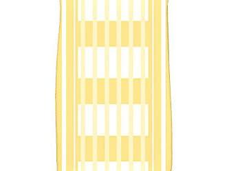 E by Design E by design HTS784YE1 Beach Blanket, Stripe Print Hand Towel 16 x 25 Yellow