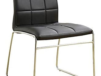 FURNITURE OF AMERICA 24/7 Shop at Home 247SHOPATHOME IDF-8320BK-SC Dining-Chairs, Black