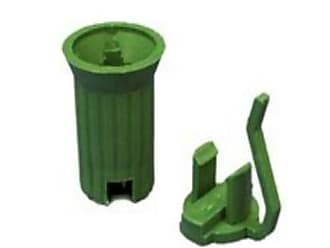 Queens of Christmas WL-P-RSOC-E17G C9 Socket E17 in Green - 50 Bag (Pack of 50)