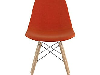 NyeKoncept 331004EW1 Mid Century Dowel Side Chair, Lava Red