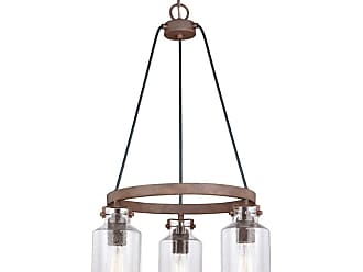 Vaxcel Lighting H0199 Milone 3 Light 20 Wide Mini Chandelier with a