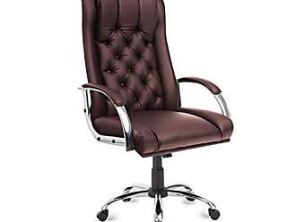 Siena Móveis Cadeira Button Presidente Siena Móveis Marrom