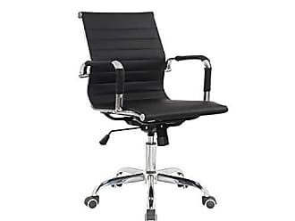 Siena Móveis Cadeira Diretor Giratória Estofada com Rodízios Manhattan Siena Móveis Preto