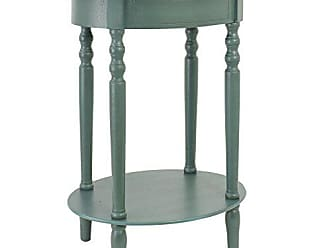 Decor Therapy FR1545 Simplify Oval Accent Table, Antique Teal