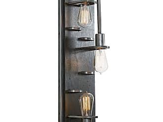 Varaluz Lofty 23.5 3-Light Wall Sconce in Steel/Faux Zebrawood