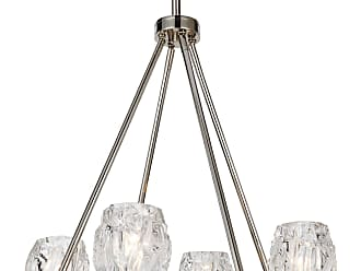 Feiss Rubin - 4 - Light Chandelier in Polished Nickel