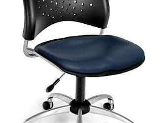 OFM 326-VAM-605 Stars Swivel Vinyl Chair, Navy