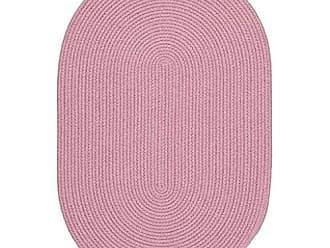 Rhody Rug Fun Braids Solid Pink 5X8 Oval