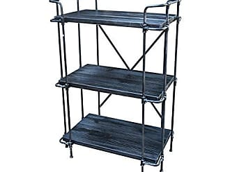 Christopher Knight Home 306583 Denise 3-Tier Bookshelf Industrial Rustic Pewter and Brushed Dark Gray