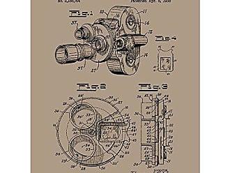 Inked and Screened SP_Vint_2,188,764_KR_24_K Vintage Inventions Phoropter Print, Kraft-Black Ink, 18 x 24