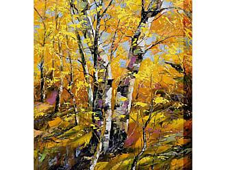 West of the Wind Golden Birch Outdoor Wall Art - OU-80928 (GOLDEN BIRCH)