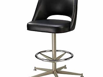 Regal Bucket Seat with Cut Out Back 26 in. Rod Frame Metal Counter Stool Golden Brown - 85-1130-26-CHROME-ELDIEGO-GOLDENBROWN