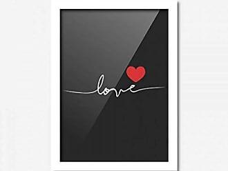 Los Quadros Quadro Decorativo Love Preto 45cmx33cm Los Quadros Branco