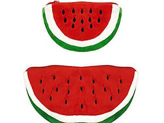 Wrapables Fruity Pencil Case and Pouch (Set of 2), Red Watermelon