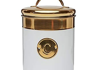 Amici Home 5AN844R Simone Coffee Metal Canister One Size Gold
