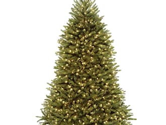 National Tree Company 7.5 ft. Dunhill Fir Hinged Pre-Lit Full Christmas Tree - DUH3-300P-75