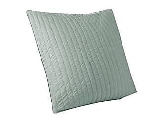 Ink + Ivy Camila Cotton Quilted Euro Sham-26x26 inches-Seafoam-Hidden Zipper-Insert Not Included-Sold Individually