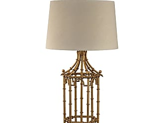 Dimond Lighting Antique Brass Floor Lamp With Clear Glass Shade