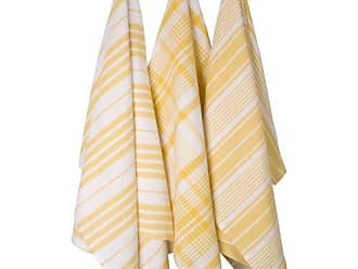 Now Designs Jumbo Pure Kitchen Towel Set of 3, Lemon Yellow