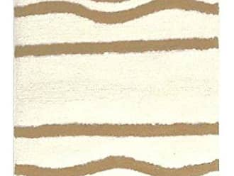 Idea Nuova stylehouse WK681603 Cotton Wave Bath Rug with Latex Backing, 20 x 30, Brown
