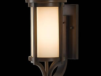Feiss OL7501HTBZ Merrill Outdoor Lantern - Wall Bracket in Heritage Bronze finish with Creme Etched Glass
