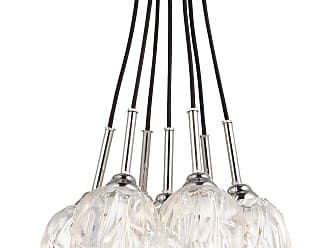 Feiss Rubin - 7 - Light Cluster Chandelier in Polished Nickel