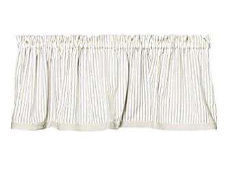 Heritage Lace Ticking 55x15 Tan/White Valance