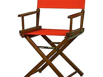 Yu Shan Casual Home 18 Directors Chair Honey Oak Frame with Orange Canvas