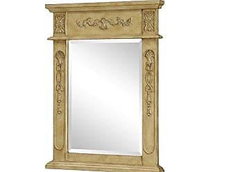Elegant Lighting Elegant Decor VM-1003 Danville Traditional Mirror, 22, Antique Beige