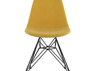 NyeKoncept 331003EM3 Mid Century Eiffel Side Chair, Papaya Yellow