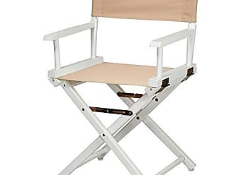 Yu Shan Casual Home 18 Directors Chair White Frame with Tan Canvas