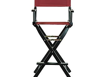 Yu Shan Casual Home 30 Directors Chair Black Frame-with Burgundy Canvas, Bar Height
