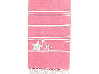Linum Home Textiles LKP65-SR00 Lucky Starfish Peseta Beach Towel, Pretty Pink