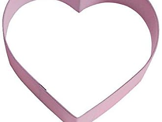 CybrTrayd R&M Heart 4 Cookie Cutter Pink With Brightly Colored, Durable, Baked-on Polyresin Finish